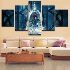 painting abstract 5 panel beautiful rose artwork frames wall modular pictures for living room home decoration canvas printing canada 2018 from z793737893