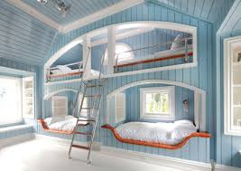 cool bedroom ideas for girls. Block Board Spray Paint Bunk Bed Girls Bedroom Ideas Rectangle White Laminated Brick Fireplace Cute Color Orange Teen Decoration Cool For