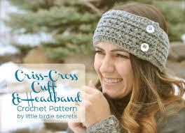 Crochet Headband Pattern Delectable Free Crochet Headband And Cuff Pattern Little Birdie Secrets