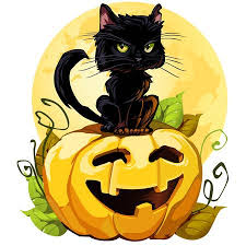 halloween black cat cute. Delighful Halloween A Cute Black Cat On A Halloween Pumpkin EPS8 Isolated White Each Element  Grouped White On Black Cat Cute