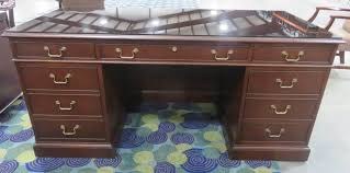 executive desk with glass top by kittinger