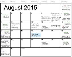 Calendar June July 2015 Ironwood Residents
