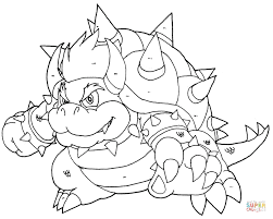 Small Picture Bowser Coloring Page Free Printable Coloring Pages Coloring Home