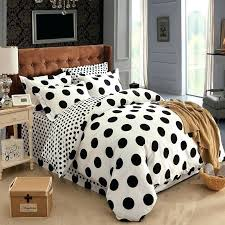 comforter sets polka dot bedding cotton black and white sets bed set linen queen king