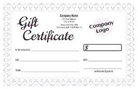 Custom Gift Certificate Templates Free Create Gift Certificate Template