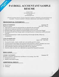 Payroll Resume Magnificent Payroll Resume