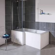 l shape square shower bath screen left bathtub shower combo radiant