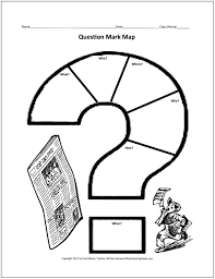 QuestionMarkMap free graphic organizers for teaching writing on first grade daily schedule template