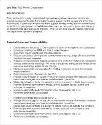 Travel Agent Job Description Classy 48 Project Coordinator Job Description Samples Sample Templates