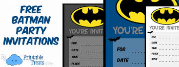 Print Out Birthday Invitations Batman Birthday Invitations to Print Printable Treats 77