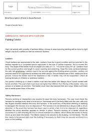 Method Of Statement Sample Enchanting Painting Exterior Method Statement