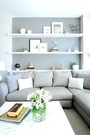 scandinavian furniture edmonton. Scandinavian Furniture Edmonton Neutral Living Room With Gray Sofa And Feature Wall White Shelves