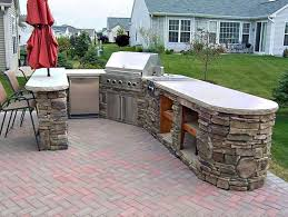 backyard patio grill deck with built in bbq reno deck ideas built in