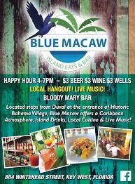blue macaw island eats bar key west