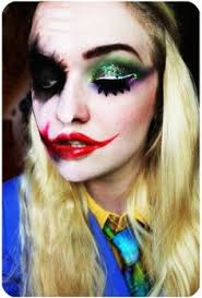 colorful sequin eyeshadow and mouth joker face makeup for 2016 clown face painting