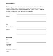 Sample Money Lending Agreement Example Of Loan Letter Docs