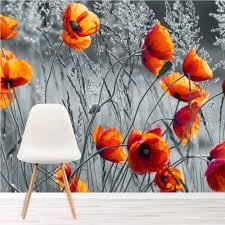 Rote Mohnblume Blume Fototapete Schwarz Weiss Tapete Schlafzimmer
