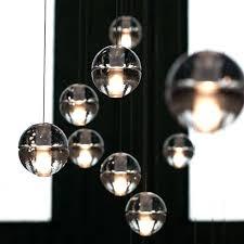 large glass ball floor lamp