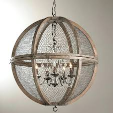 large wooden orb chandelier edrexco regarding new residence large wood chandelier plan