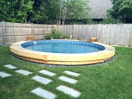 semi above ground pools swimmg s partial pool w34