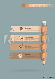 Pencil Creative Info Graphics Banner New Year 2019 Calendar