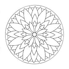 Mandala A Colorier Facile Enfant 17 Mandalas Faciles Pour
