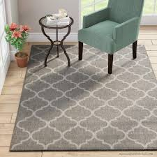 winston porter emma trellis power loom dark gray indoor outdoor area rug wnpr4595