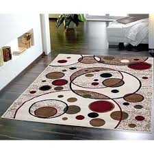 beige area rug modern circles design rugs red black brown tan carpet new black and tan