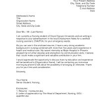 Sample Cover Letter For Nurse Internship Juzdeco Com