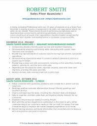sales floor sales floor associate resume samples qwikresume