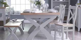grey painted furnitureDerbyshire Grey Painted Furniture Dining and Lounge  OAKEA