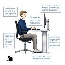 correct ergonomic sitting posture