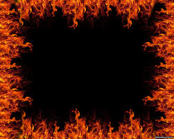 Fine Flame Fire Border With Flames Backgrounds For Powerpoint ...