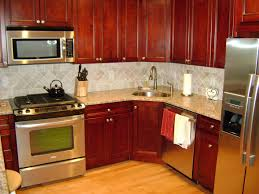 corner kitchen cabinet design with sink outofhome ideas d shaped of wooden cabinets