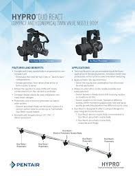 Hypro Duo React Compact And Economical Twin Valve Nozzle
