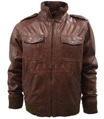 mens vintage er leather jacket