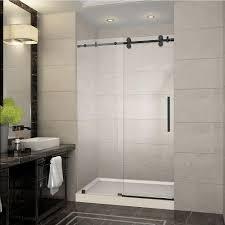 framed shower door frameless sliding oil rubbed bronze handle home