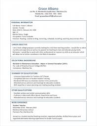 Student Profile Template For Teachers Example Of A Good Resume Cover Letter For Nursing Job Student