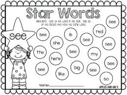Primer Sight Words Dab The Sight Words Primer Sight Words Dolch