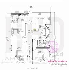 mail floorplan. Free Floor Plan And Elevation Of 2927 Square Feet 5 BHK Contemporary Home Design By AmVi Mail Floorplan