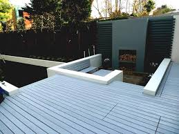 modern garden design ideas london uk roof with decking and box