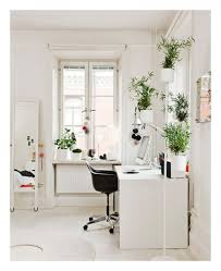 agreeable modern home office. agreeable simple fresh modern home office workspace area with floral design green plants tile floors