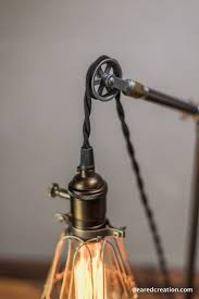 pulley lighting. pulley lamp table light edison industrial lighting i