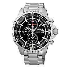 men s seiko watches h samuel seiko solar men s chronograph stainless steel bracelet watch product number 3562735