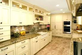 kitchen colors with cream cabinets black and cream kitchen ideas