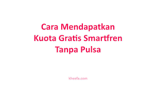 Maybe you would like to learn more about one of these? Cara Mendapatkan Kuota Gratis Smartfren Tanpa Pulsa