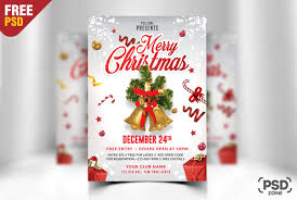 Christmas Flyer Templates 014 Merry Christmas Flyer Free Psd Online Templates For