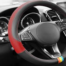 full spectrum two sided genuine leather steering wheel cover