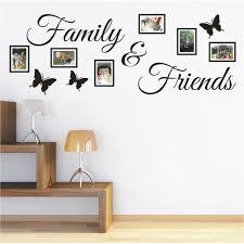 Wandtattoo Spruch Family Friends Bild Bilderrahmen Foto Wandsticker