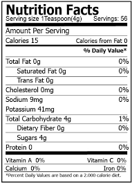 Coconut Sugar Nutrition Facts 8 Oz Divine Organics
